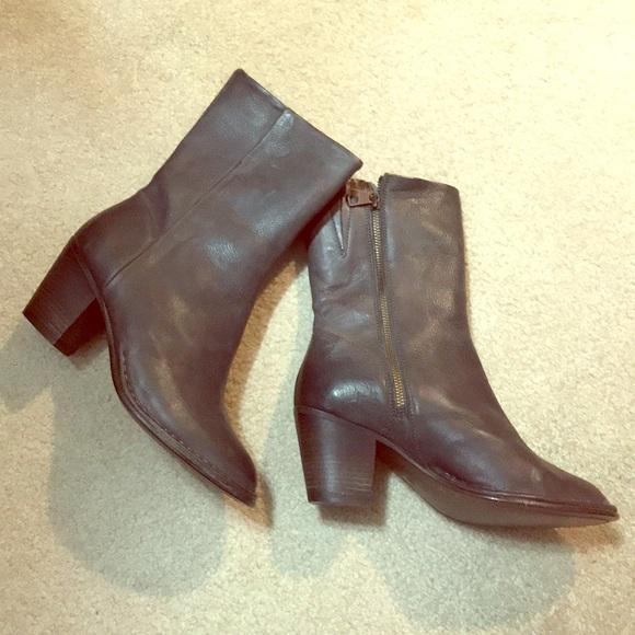 Dark Gray Leather New Gray Boots Dark New Dark Gray Leather New Boots 4jRq53AL